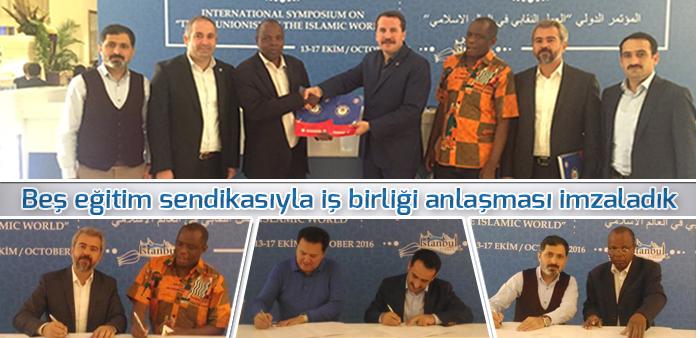 Beş eğitim sendikasıyla iş birliği anlaşması imzaladık