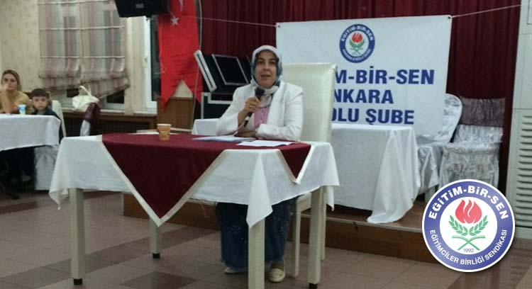 Özdemir, Ankara 6 No'lu Şube Kadınlar Komisyonu Toplantısına Katıldı