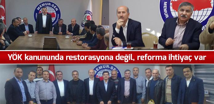YÖK kanununda restorasyona değil, reforma ihtiyaç var