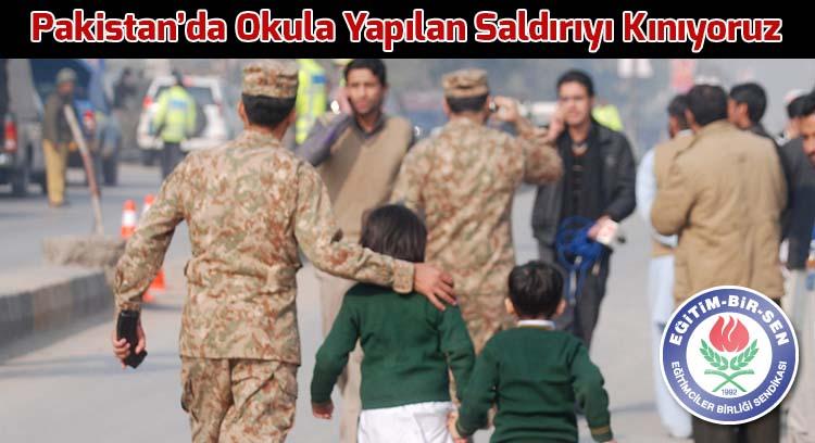 Pakistan'da Okula Yapılan Saldırıyı Kınıyoruz