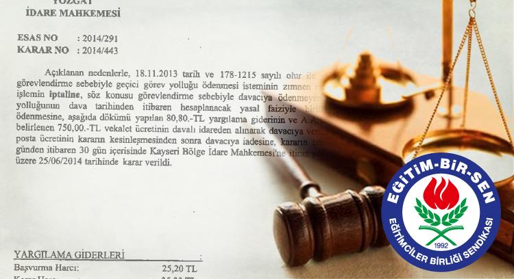 Mahkeme: Geçici Görevlendirmede Yolluk Ödenir