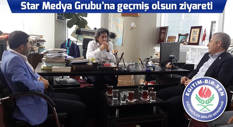 Star Medya Grubu'na geçmiş olsun ziyareti