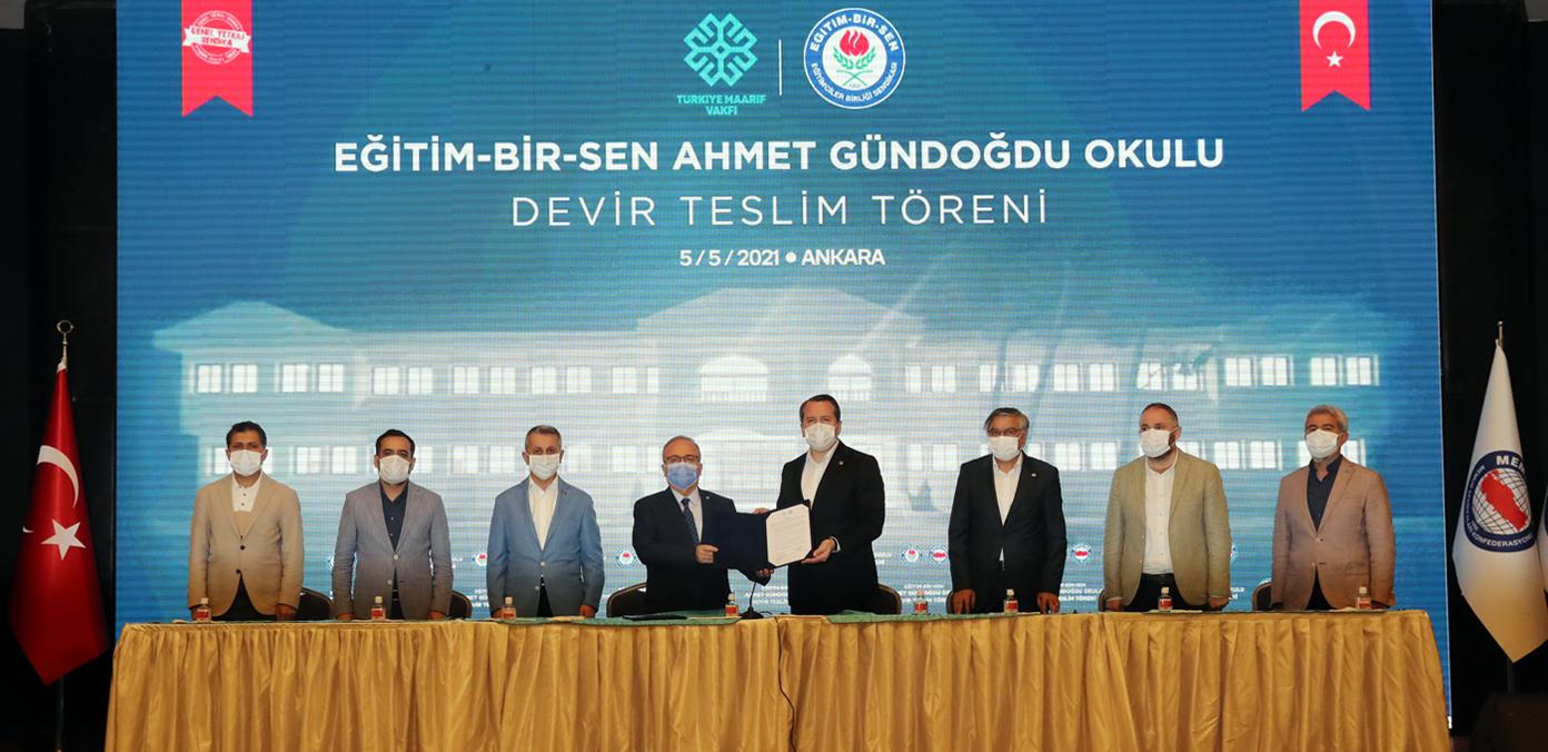Suriye'de yaptırdığımız okulu Türkiye Maarif Vakfı'na devrettik