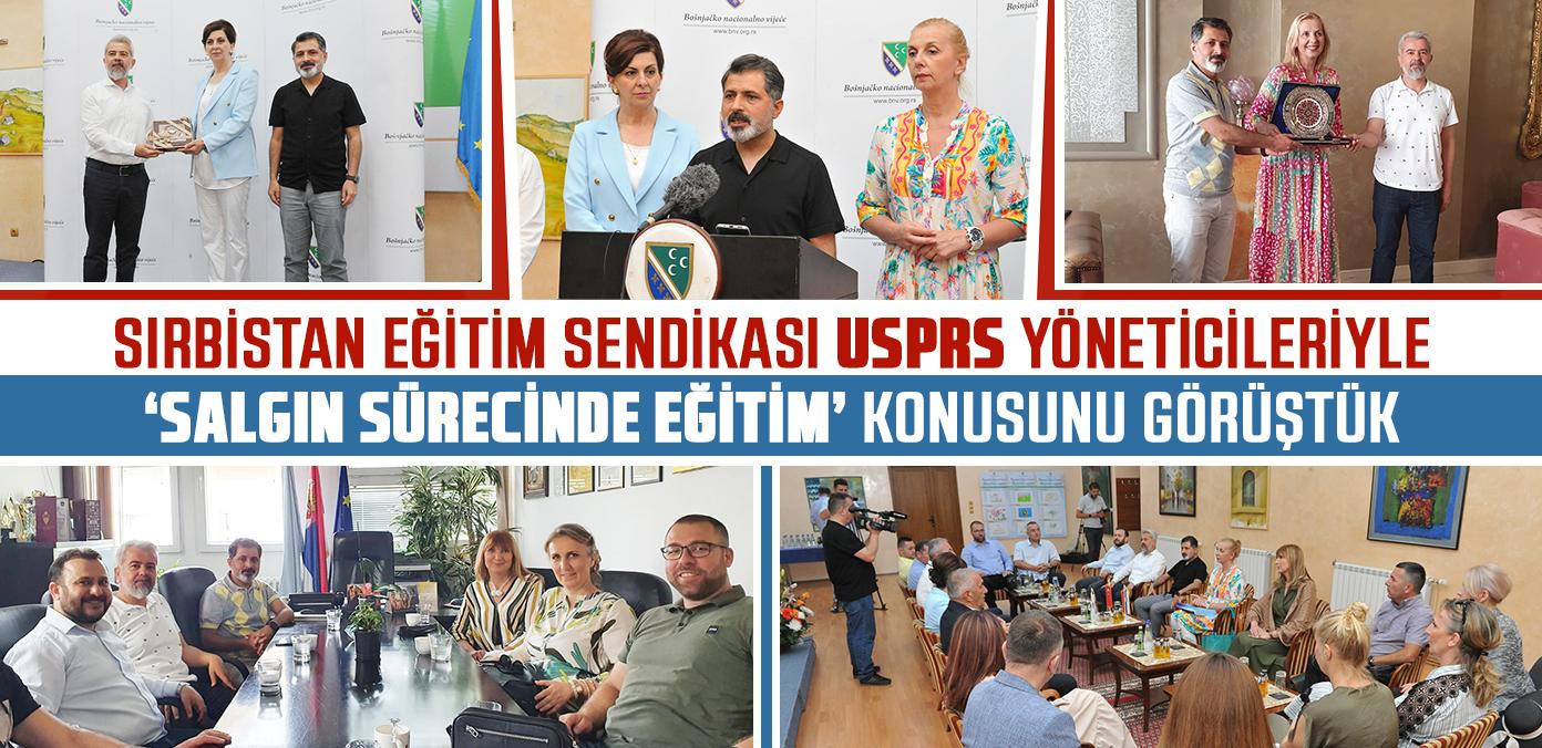Sırbistan Eğitim Sendikası USPRS yöneticileriyle 'salgın sürecinde eğitim' konusunu görüştük