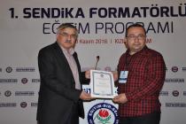 1.Sendika Formatörlüğü Eğitim Programını gerçekleştirdik